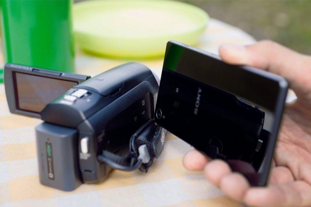 NFC réglages camescope numérique connecté Sony HDR-PJ410