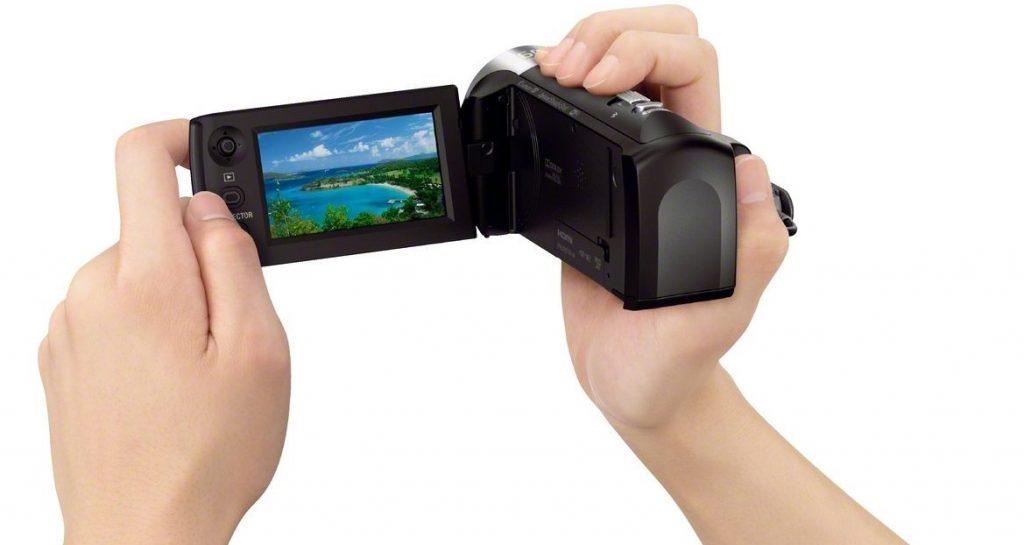 réglages camescope numérique connecté Sony HDR-PJ410
