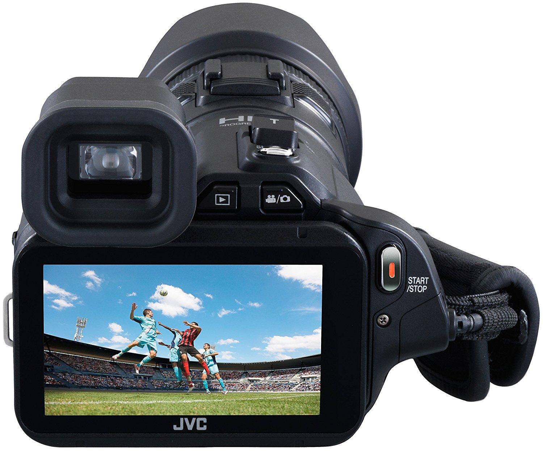 test et avis complet camescope numérique JVCGC-PX100BE ecran