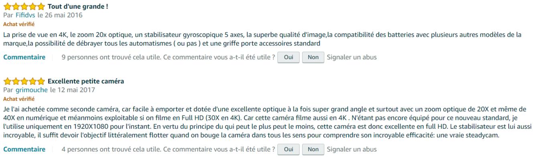 avis internaute Sony FDR-AX53
